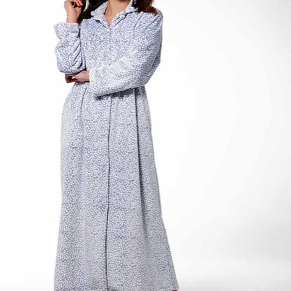 pierre-cardin-fleece-spot-button-up-gown